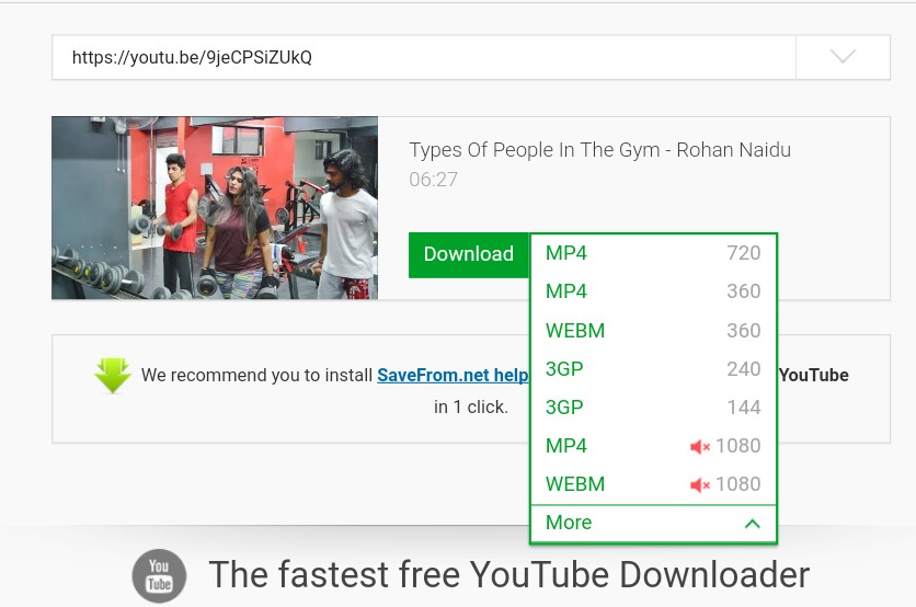 Youtube video mobile gallery me save kaise kare
