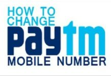 paytm number change kaise kare