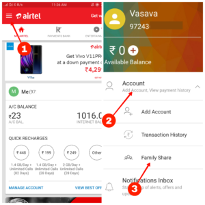 airtel data share kaise kare