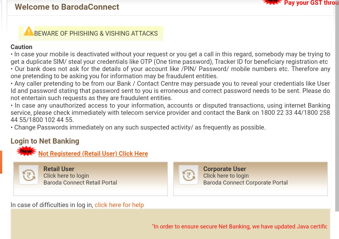 Get BOB Statement online through net banking