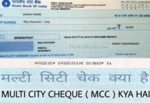 multi city cheque kya hai, what is multi city cheque in hindi