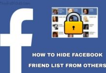 Facebook friends list kaise hide kare tarika
