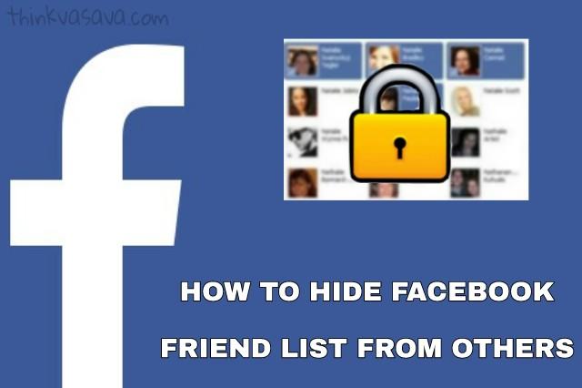Facebook friends list kaise hide kare tarika