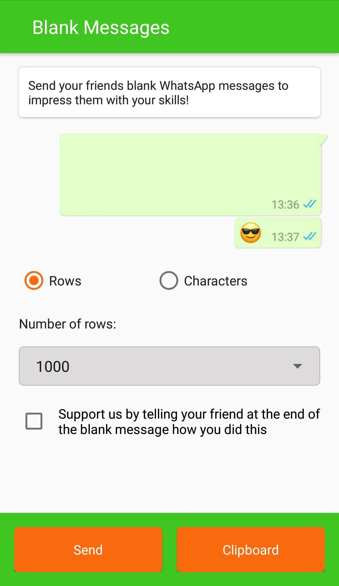 Whatsapp par blank message kaise send Kare