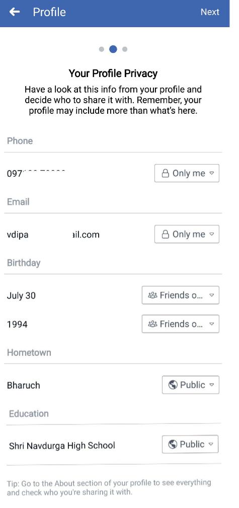 facebook privacy checkup in hindi
