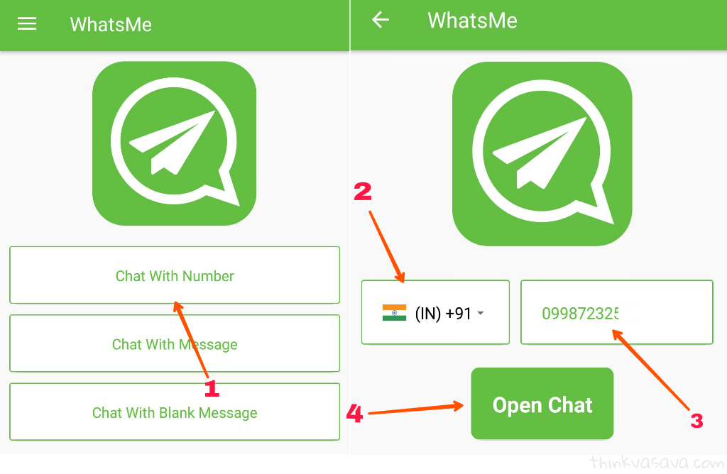 Without number save whatsapp par message send kaise kare