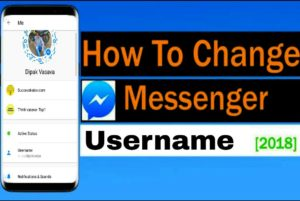Fb messenger username kaise change kare, how to change messenger username in hindi