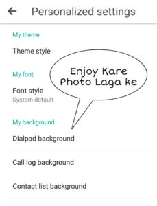 Dialpad par photo lagaye