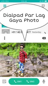 dialpad par photo kaise lagaye