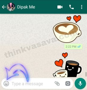 whatsapp me sticker kaise bheje